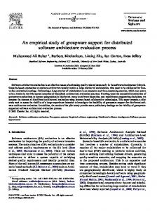 An empirical study of groupware support for distributed software ...