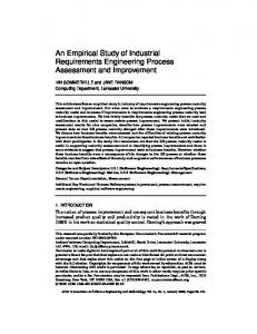 An Empirical Study of Industrial Requirements ... - CiteSeerX