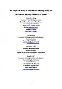 An Empirical Study of Information Security Policy on ...