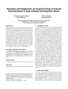 An Empirical Study of Internal Documentation in Agile Software ...