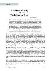 An Empirical Study of Motivation in the Indian Air Force