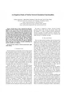 An Empirical Study of NetEm Network Emulation ... - Semantic Scholar