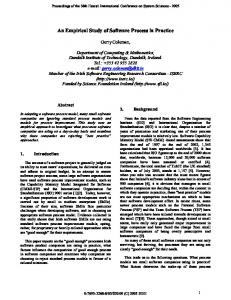 An Empirical Study of Software Process in Practice - IEEE Computer ...