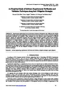 An Empirical Study of Software Requirements Verification and ...
