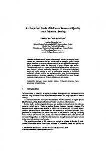 An Empirical Study of Software Reuse and Quality in ...