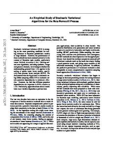 An Empirical Study of Stochastic Variational Algorithms for the ... - arXiv