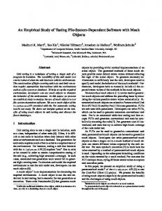 An Empirical Study of Testing File-System-Dependent Software with ...