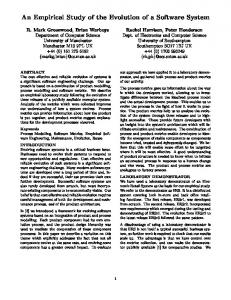 An Empirical Study of the Evolution of a Software System