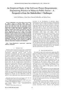 An Empirical Study of the Software Project Requirements Engineering ...