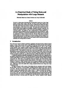 An Empirical Study of Voting Rules and Manipulation with Large ...