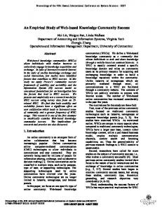 An Empirical Study of Web-Based Knowledge Community Success