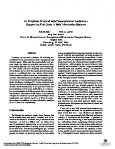 An Empirical Study of Web Personalization ... - Semantic Scholar