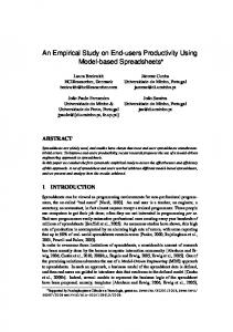An Empirical Study on End-users Productivity ... - Semantic Scholar
