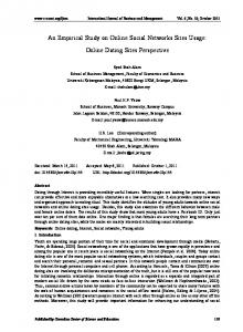 An Empirical Study on Online Social Networks Sites Usage: Online ...