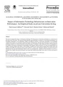 An Empirical Study on Private Universities In Iraq - ScienceDirect