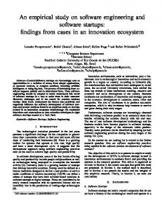 An empirical study on software engineering and ... - KSI Research