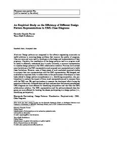 An Empirical Study on the Efficiency of Different Design ... - CiteSeerX