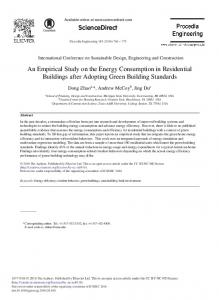 An Empirical Study on the Energy Consumption in ... - ScienceDirect