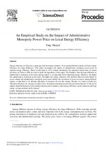 An Empirical Study on the Impact of Administrative Monopoly ... - Core