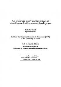 An empirical study on the impact of microfinance institutions on ...