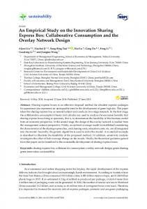 An Empirical Study on the Innovation Sharing Express Box ... - MDPI