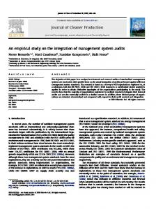 An empirical study on the integration of management system audits