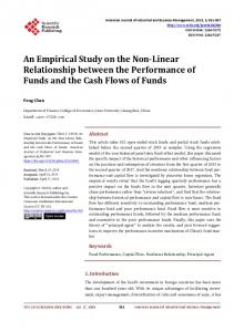 An Empirical Study on the Non-Linear Relationship between the ...