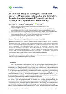 An Empirical Study on the Organizational Trust, Employee ... - MDPI
