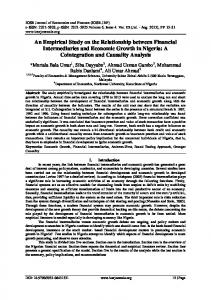 An Empirical Study on the Relationship between ...