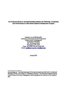 An Empirical Study on the Relationships between the Flexibility ...