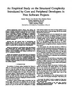 An Empirical Study on the Structural Complexity ... - Software Livre.org