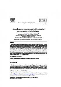 An endogenous growth model with embodied energy-saving technical ...