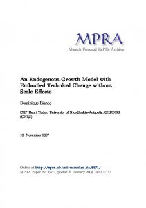 An Endogenous Growth Model with Embodied Technical Change ...