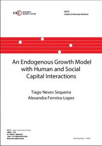 An Endogenous Growth Model with Human and Social ... - ISCTE-IUL