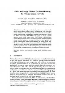 An Energy Efficient GA-Based Routing for Wireless ... - Semantic Scholar