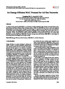 An Energy-Efficient MAC Protocol for Ad Hoc Networks - Scientific ...
