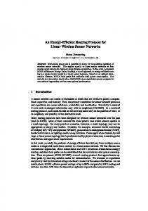 An Energy-Efficient Routing Protocol for Linear Wireless ... - wwwpub