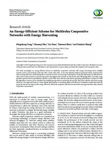 An Energy-Efficient Scheme for Multirelay Cooperative Networks with