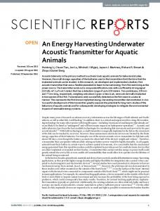 An Energy Harvesting Underwater Acoustic ... - Semantic Scholar