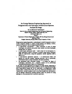 An Energy Systems Engineering Approach to ...