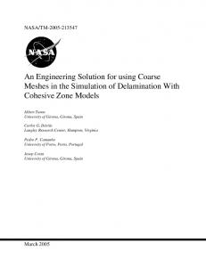 An Engineering Solution for using Coarse Meshes in the ... - CiteSeerX