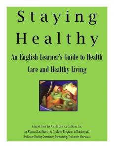 An English Learner's Guide to Health Care and Healthy Living