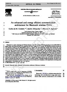 An enhanced and energy efficient communication architecture for ...