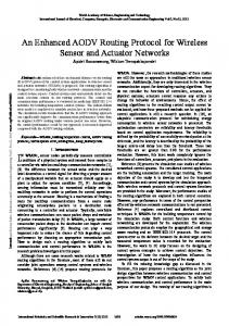 An Enhanced AODV Routing Protocol for Wireless ... - Semantic Scholar