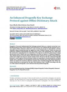 An Enhanced Dragonfly Key Exchange Protocol against Offline ...