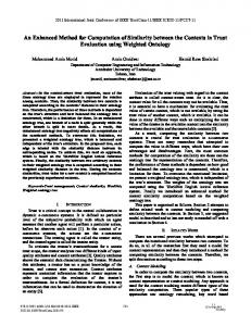 An Enhanced Method for Computation of Similarity between the ...