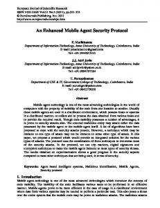 An Enhanced Mobile Agent Security Protocol