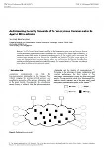 An Enhancing Security Research of Tor Anonymous Communication ...