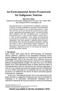 An Environmental Justice Framework for Indigenous ... - SSRN papers