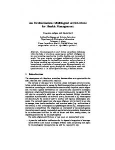 An Environmental Multiagent Architecture for Health ... - CiteSeerX